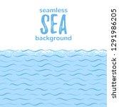 sea  river waves  stylized... | Shutterstock .eps vector #1291986205