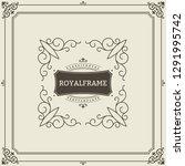 ornament design invitation... | Shutterstock . vector #1291995742