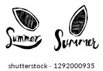 summer typography with surfing... | Shutterstock .eps vector #1292000935