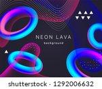 holographic neon torus vector...