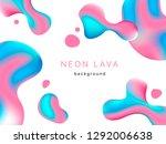 liquid neon lava lamp vector...