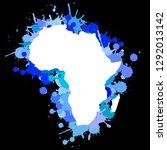 sketch blot dotty african...   Shutterstock .eps vector #1292013142
