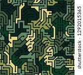 circuit board seamless... | Shutterstock .eps vector #1292015365