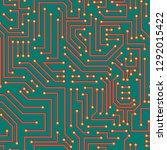 circuit board seamless pattern  ...   Shutterstock .eps vector #1292015422
