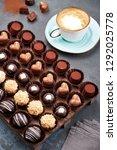 chocolate handmade candies ...   Shutterstock . vector #1292025778