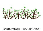 nature text from branches and... | Shutterstock .eps vector #1292040955