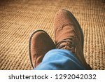 top view from man with brown... | Shutterstock . vector #1292042032