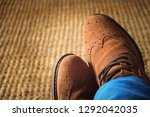 top view from man with brown... | Shutterstock . vector #1292042035
