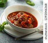 homemade meatballs with tomato... | Shutterstock . vector #1292046268
