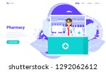 pharmacy concept. woman... | Shutterstock .eps vector #1292062612