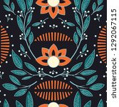 seamless pattern design with... | Shutterstock .eps vector #1292067115