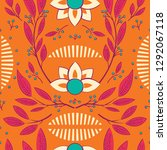 seamless pattern design with... | Shutterstock .eps vector #1292067118