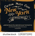 new york. cafe racer. hipster... | Shutterstock .eps vector #1292072392
