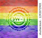bow tie lgbt colors emblem  | Shutterstock .eps vector #1292072905