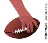 realistic human hand of... | Shutterstock .eps vector #1292076472