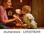 kindergarten concept. little... | Shutterstock . vector #1292078245