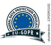 eu gdpr label illustration | Shutterstock .eps vector #1292092102