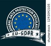 eu gdpr label illustration | Shutterstock .eps vector #1292092105