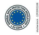 eu gdpr label illustration | Shutterstock .eps vector #1292092108
