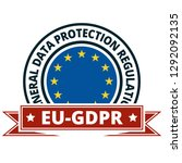 eu gdpr label illustration | Shutterstock .eps vector #1292092135