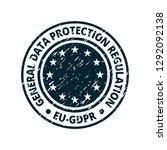 eu gdpr label illustration | Shutterstock .eps vector #1292092138