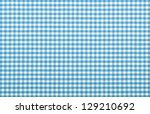 Blue Checkered Fabric Closeup ...