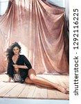 portrait of a sensual latina... | Shutterstock . vector #1292116225