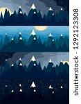 mountain landscape at... | Shutterstock .eps vector #1292123308
