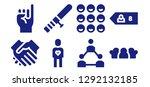 trust icon set. 8 filled trust ... | Shutterstock .eps vector #1292132185