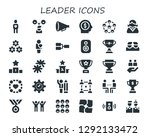 leader icon set. 30 filled... | Shutterstock .eps vector #1292133472