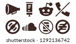 placard icon set. 8 filled... | Shutterstock .eps vector #1292136742