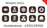 wisdom icon set. 10 filled... | Shutterstock .eps vector #1292139502
