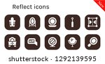 reflect icon set. 10 filled... | Shutterstock .eps vector #1292139595