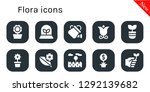 flora icon set. 10 filled... | Shutterstock .eps vector #1292139682