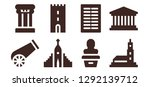 historical icon set. 8 filled... | Shutterstock .eps vector #1292139712