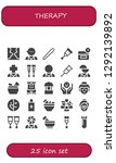 therapy icon set. 25 filled... | Shutterstock .eps vector #1292139892