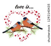 two birds in love valentine s... | Shutterstock .eps vector #1292140435