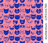 seamless vector pattern with...   Shutterstock .eps vector #1292141785