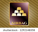 gold shiny emblem with gold... | Shutterstock .eps vector #1292148358