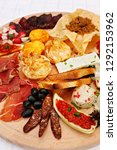 serbian cheese and meat... | Shutterstock . vector #1292153962