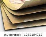canadian dollar closeup 3d... | Shutterstock . vector #1292154712