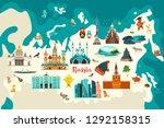 russia vector map illustration... | Shutterstock .eps vector #1292158315