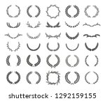 collection of different black... | Shutterstock .eps vector #1292159155