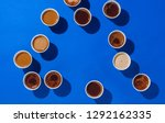 coffee cups with different... | Shutterstock . vector #1292162335