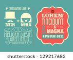 wedding invitation card... | Shutterstock .eps vector #129217682