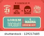 wedding invitation card...   Shutterstock .eps vector #129217685