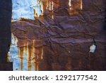 rusty iron texture  rusty iron... | Shutterstock . vector #1292177542