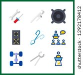 9 workshop icon. vector... | Shutterstock .eps vector #1292178412