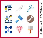 9 workshop icon. vector... | Shutterstock .eps vector #1292187655