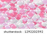 red and pink heart. valentine's ... | Shutterstock . vector #1292202592